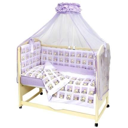 Комплект в кроватку Топотушки Мишутка сиреневый, 7 предметов