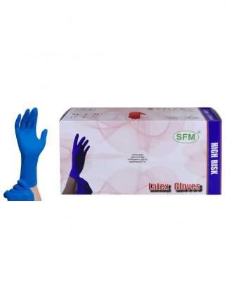 Перчатки медицинские SFM Hospital Products латексные сверхпрочные 25 пар HIGH RISK/L/синий