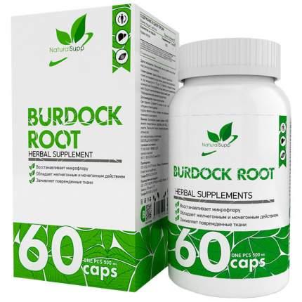 Корень лопуха NaturalSupp Burdock Root 500 мг капсулы 60 шт.