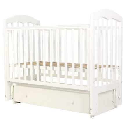 Кровать детская Топотушки Сильвия-7 белая, 120х60