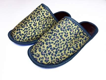Домашние тапочки женские Jollyjoy леопард желтые 40-41 RU