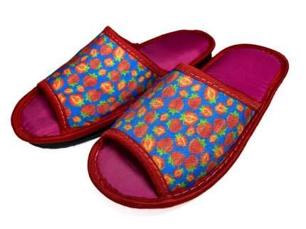 Домашние тапочки женские Jollyjoy клубника красные 37-38 RU