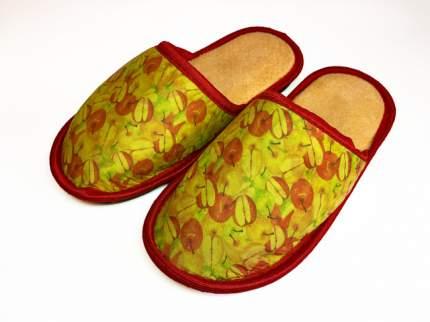 Домашние тапочки женские Jollyjoy яблоки желтые 38-39 RU
