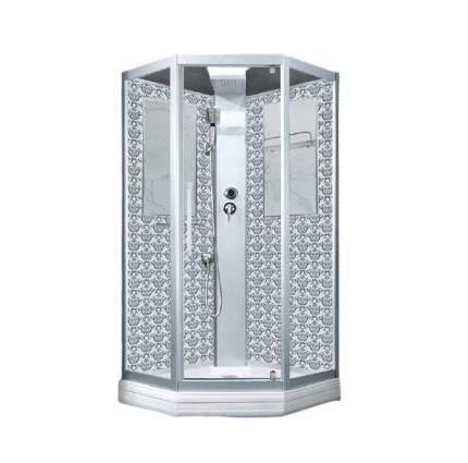 Душевая кабина Niagara Lux NG-7717WBK 100х100 см серебро