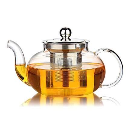 Заварочный чайник из боросиликатного стекла, 600 мл, прозрачный, MARMA  MM-TPT-02