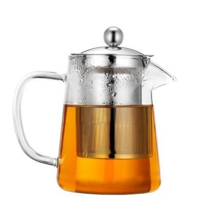 Заварочный чайник, из термостойкого стекла, 750 мл, 15,2х11 см, MARMA MM-TPT-24
