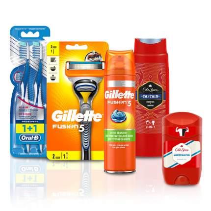 Набор дорожный для него: товары д/бритья, дезодорант, гель д/душа 2в1, зубная щетка 2шт