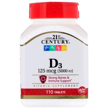 Витамин D-3 21st Century Vitamin D-3 5000 ME таблетки 110 шт.
