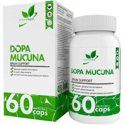 Экстракт семян мукуна NaturalSuppDopa Mucuna 600 мг капсулы 60 шт.