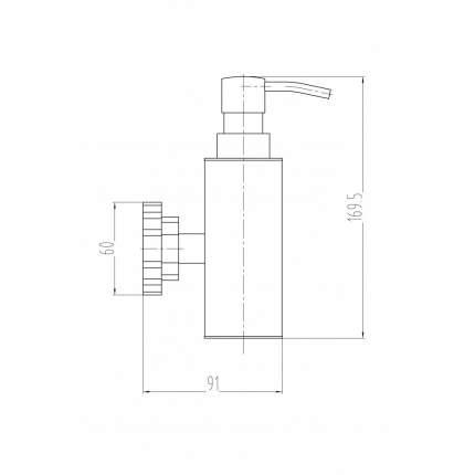 Дозатор для мыла MILACIO настенный MC.908.SL, серебро ( коллекция Villena )
