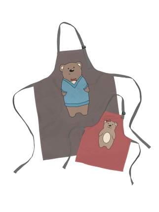 Комплект фартуки парные семья Медведь и дочь медвежонок sfer.tex 1766733