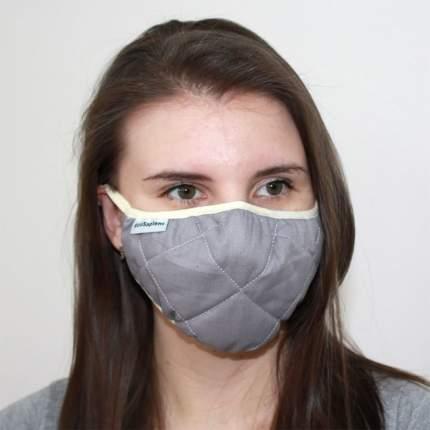 Многоразовая защитная трёхслойная маска EcoSapiens ES-600 серая 1 шт.