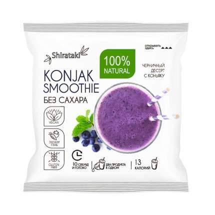 Десерт без сахара Konjak Smoothie черничный 20 шт по 15 г