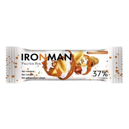 "Батончик IRONMAN 12 шт. ""Protein Bar"", 50 г Арахис-карамель"