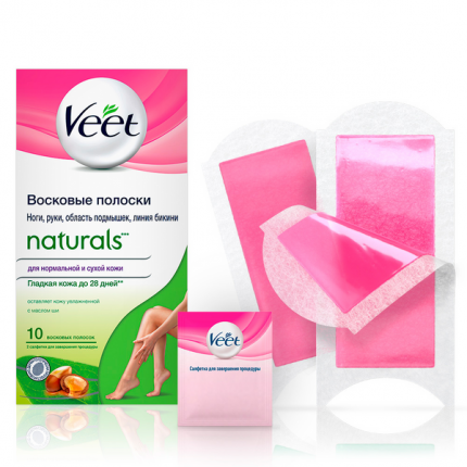 Полоски для депиляции Veet Naturals 10 шт