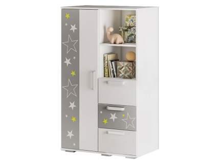 Шкаф Трио ШК-10 Белый, звездное детство