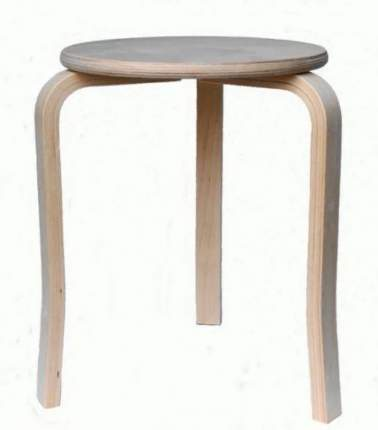 Табурет KETT-UP ECO STYLE TRIO, три ножки, натуральный