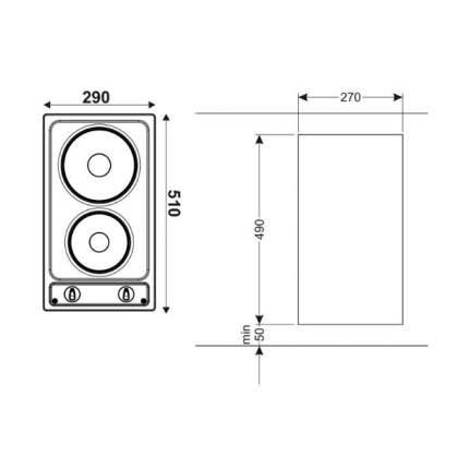 Встраиваемая электрическая панель Hansa BHEI301060 Silver