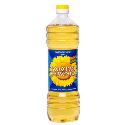 Масло подсолнечное Золотая Семечка рафинированное 1 л