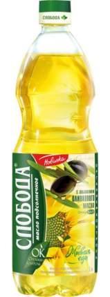 Масло подсолнечное Слобода с добавлением оливкового 1 л