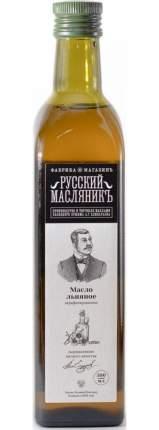 Масло льняное нерафинированное Русский Масляникъ сыродавленное 500 мл