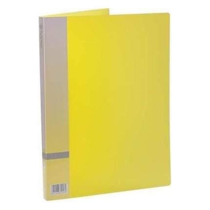 Папка с прижимным механизмом, ф. А4, желтый, материал PP, вместимость 120 листов