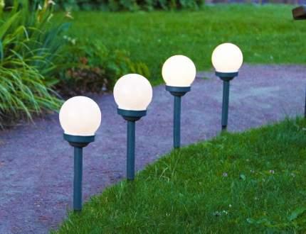 Комплект садовых светильников (4 шт.), led-лампы, солнечная батарея, 27х10 см, 480-46
