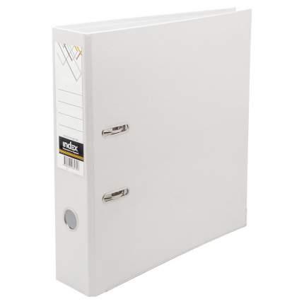 Папка-регистратор 80 мм, PVC, белая, с металлической окантовкой