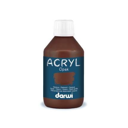 DАкриловая краска OPAK непрозрачная Darwi, 250мл 7727488_00003 коричневый
