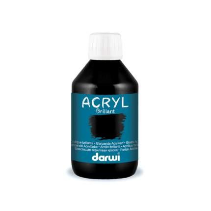 Акриловая краска BRILLANT блестящий Darwi, 80мл 7727490_00002 черный