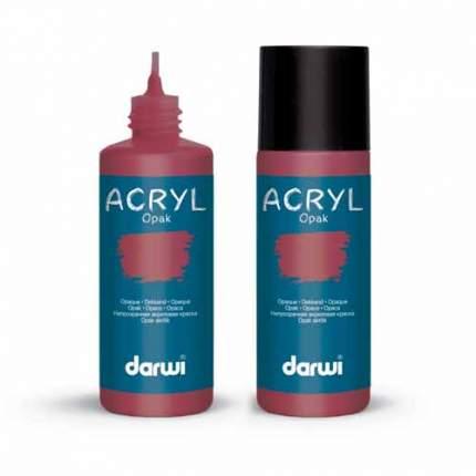 Акриловая краска непрозрачная OPAK Darwi, 80мл 472005_00020 красный