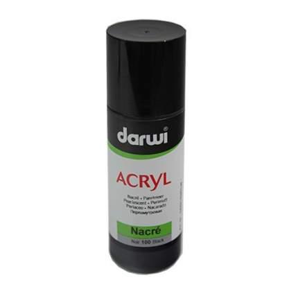 Акриловая краска NACRE перламутровая Darwi, 80мл 472013_00002 черный