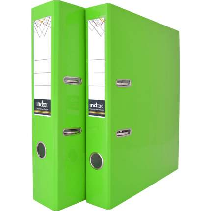Папка-регистратор COLOURPLAY, 50 мм, ламинированная, неоновая зеленая