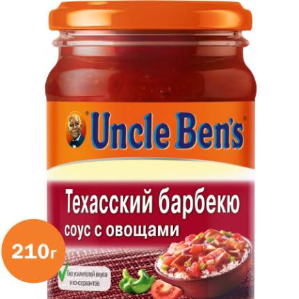 Техасский барбекю соус с овощами для приготовления блюд Uncle Ben's 210 г