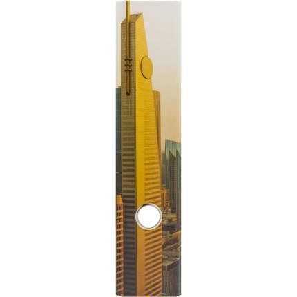 Папка-регистратор ламинированная, 80 мм, Небоскребы 2