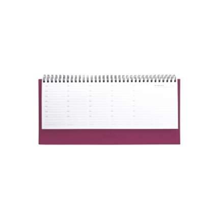 Планинг BASIC, евроспираль, недатир, 128с., ф.305*140мм, пурпурно-красный