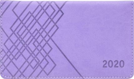 Планинг Index Line, скрытая спираль, датиров.,2020, 128стр, ф. 170*95мм, лиловый