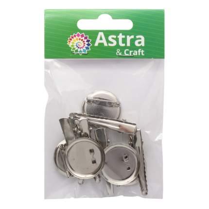 Основа для броши и заколки 4AR012 Астра 7727739 d-2,5 см, 5 шт.