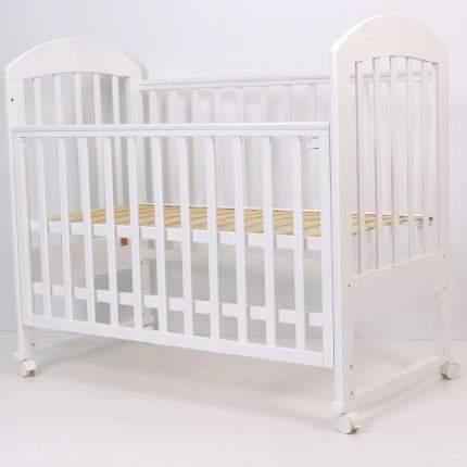 Кроватка колесо/качалка Топотушки Дарина-2 белый, 120х60
