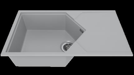Мойка для кухни комбинированная KitKraken Sea Grey
