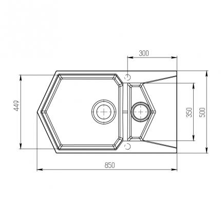 Мойка для кухни комбинированная KitKraken Pond Graphite