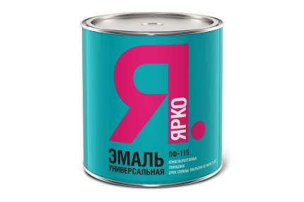 Эмаль ЯРКО ПФ-115 серая, банка 1,9 кг