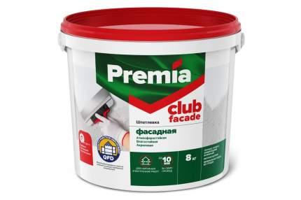 Шпатлевка PREMIA CLUB фасадная, ведро 8 кг