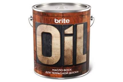 Масло-воск BRITE для террасной доски, ведро 2,5 л