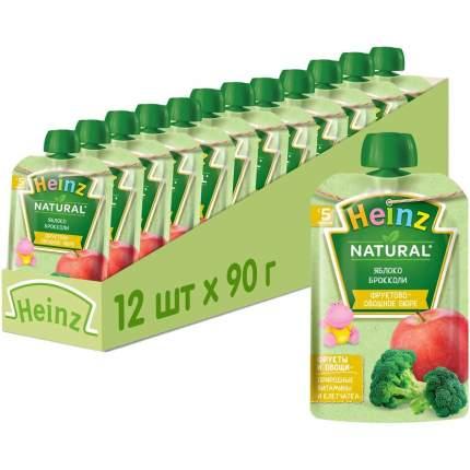 Пюре Heinz яблоко/брокколи, с 5 месяцев, 90г 12 шт.