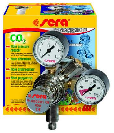 Редуктор CO2 Sera Flore для многоразового баллона, игольчатый клапан
