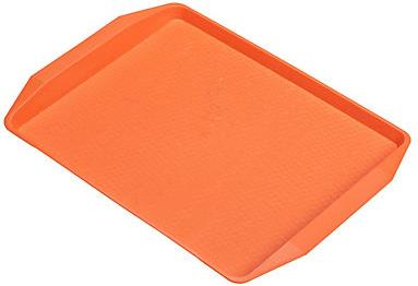Поднос для фаст-фуда оранжевый 42х32 см, 1 шт,