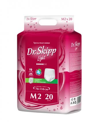 Трусы-подгузники для взрослых Dr. Skipp Light размер M-2 70-110 см 20 шт.