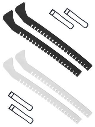 Набор зимний: Чехлы для коньков черные + Чехлы для коньков белые