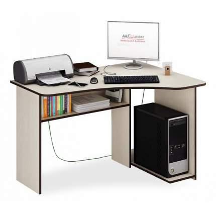 Компьютерный стол МФ Мастер Триан-1, дуб молочный